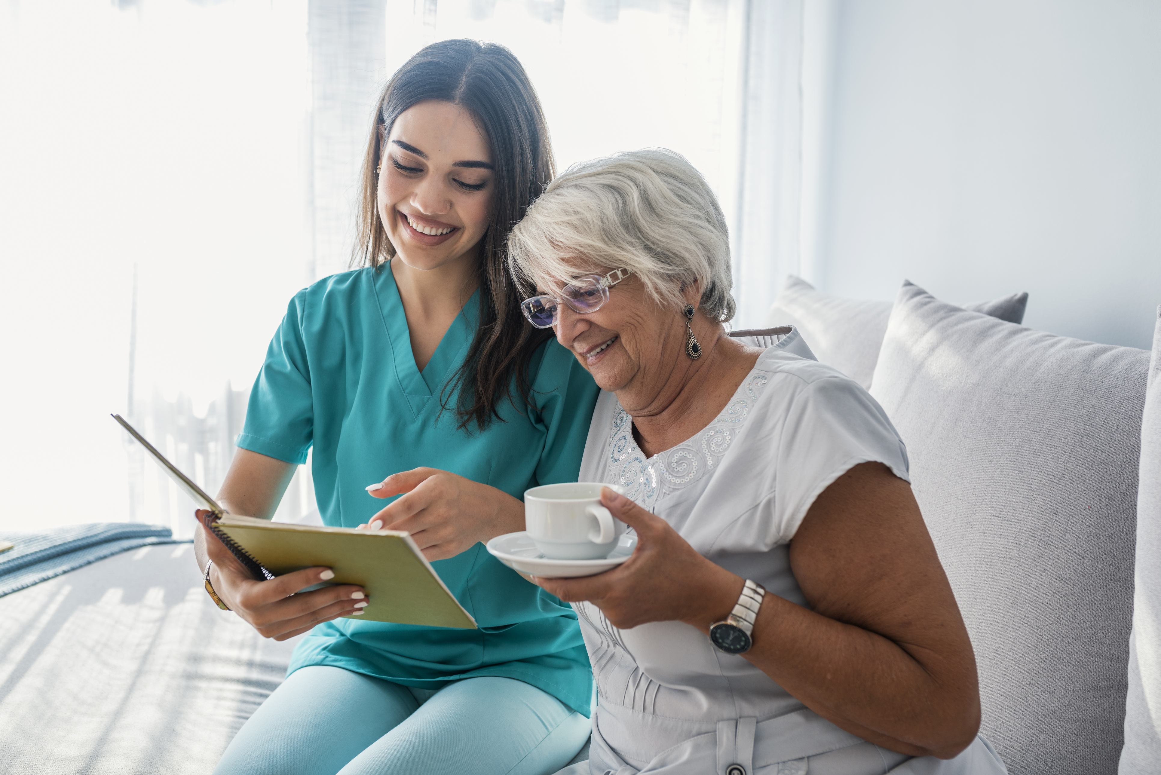 Reading Together For Elderly Home Care Companionship